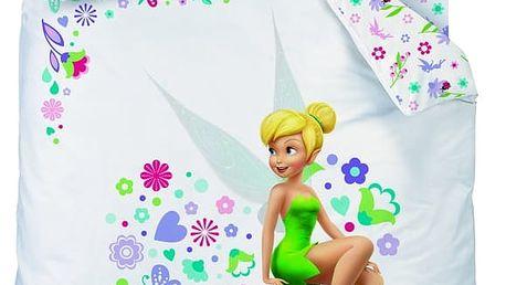 Povlečení Disney Fairies Heart (víla Zvonilka) 140x200,70x90