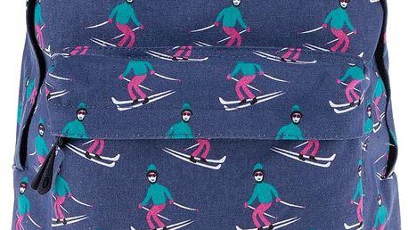 Tmavě modrý vzorovaný unisex batoh Mi-Pac Ski