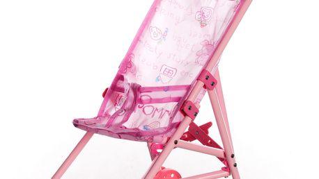Kočárek pro panenky růžový malý