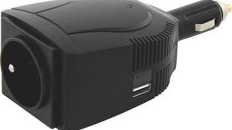 EMOS Měnič napětí do auta 12V/230V, 100W; 1710000035