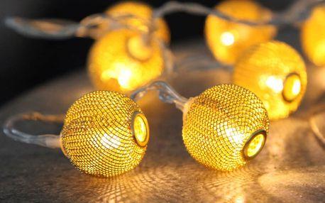 Svítící řetěz Best Season Wire Copper, 10 světýlek - doprava zdarma!