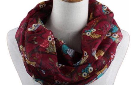 Dámský šátek se sovičkami - 7 variant