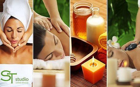 17 masáží na výběr: hodinová Lomi-Lomi, reflexní, čokoládová, lymfatická nebo masáž pro těhotné ženy