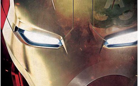 Nástěnná cedule Civil War Divided We Fall - Iron Man