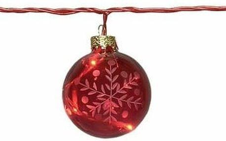 Svítící řetěz Best Season Glass Beads Red - doprava zdarma!