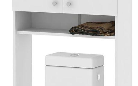 Vysoká skříňka nad WC či pračku Luna LU05, bílá