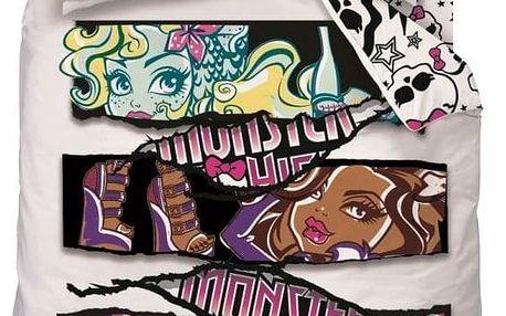 CTI Dětské bavlněné povlečení Monster High Fright On Pink, 140 x 200 cm, 70 x 90 cm
