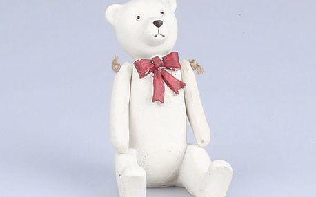 Bílý sedící medvídek Dakls - doprava zdarma!
