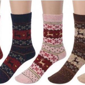 Dámské ponožky s norským vzorem