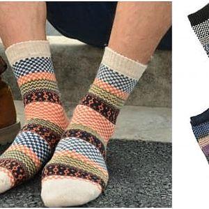 Vzorované pánské ponožky Winter
