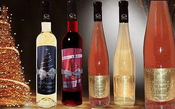 Vánoční Gold Cuvee víno se zlatem pro neobyčejné chvíle