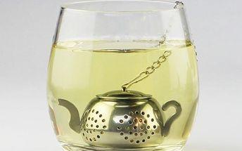 Sítko na sypaný čaj v podobě konvičky - dodání do 2 dnů