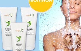 Kosmetický set vlasový šampon, tělové mléko a sprchový gel Moringa, německá kvalita.