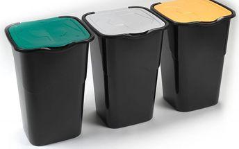 Heidrun Sada odpadkových košů 3x 50 l černé