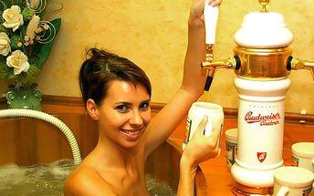 Koupel v kádi dle výběru a neomezené pití piva