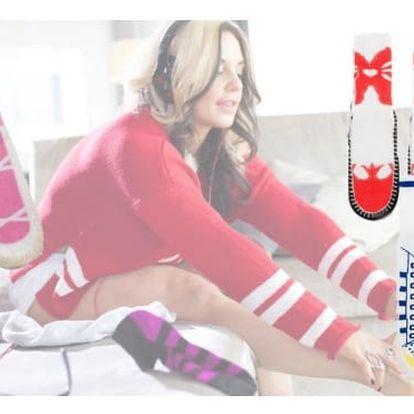 Domácí ponožky s vtipnými vzory - VÝPRODEJ!