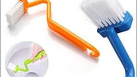 Dva kusy speciálně navrženého V-čistícího kartáče pro vaši toaletu. Čištění WC nikdy nebylo tak jednoduché.