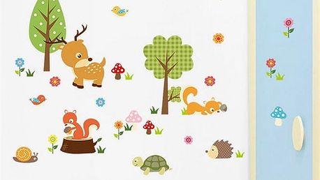 Samolepka na zeď - Zvířátka z lesa - dodání do 2 dnů