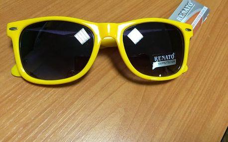 Sluneční brýle v retro stylu - žlutá - dodání do 2 dnů