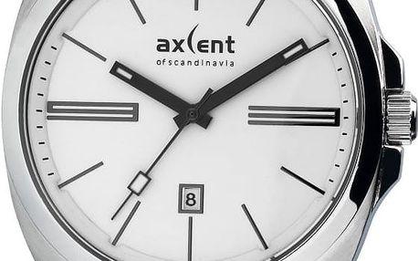 Stříbrné pánské hodinky Axcent of Scandinavia Impact - doprava zdarma!