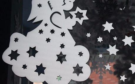 Samolepka na zeď či okno - andělíček