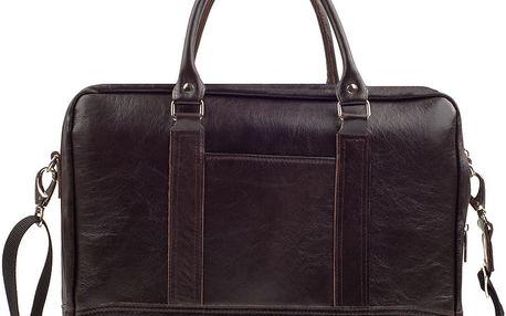Pánská kožená taška Solier SL02, hnědá - doprava zdarma!