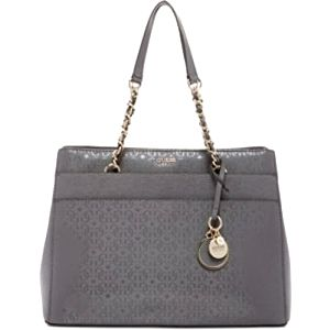 Guess Elegantní kabelka Janette Girlfriend Satchel Grey