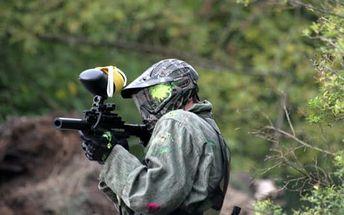 Paintball Milovice: 4 hod. v bývalém vojenském areálu + 100 ks kuliček, výbava, fotografie