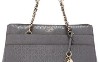 Guess Elegantní kabelka Janette Girlfriend Satchel Grey
