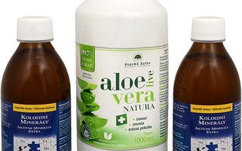 Pharma Activ Koloidní minerály 2x 300 ml + AloeVeraLive Natura 1000 ml ZDARMA