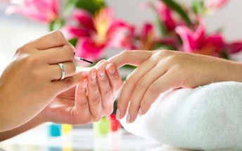 Klasická manikúra + gellak, shellac, P-Shine ošetření, tvorba nebo doplnění gelových nehtů