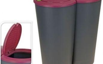 Koš odpadkový 2x25 l, fialový ProGarden KO-Y54220510fial