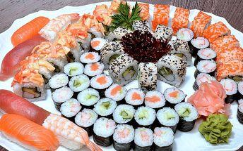 Čerstvé výtečné sety v luxusní sushi restauraci