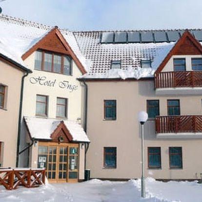 Hotel Inge*** u hradu Hasištejn s bazénem, bowlingem a slevou na saunu na 2 až 4 dny