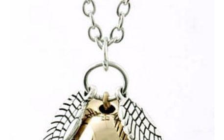 Náhrdelník s andělskými křídly a perlou - dodání do 2 dnů