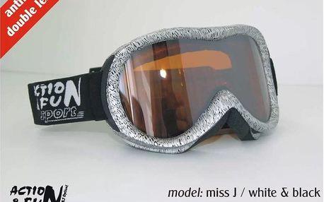 Kvalitní brýle na lyže nebo snowboard - dámské či pánské: na výběr z několika barev