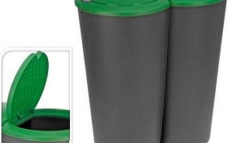 Koš odpadkový 2x25 l, zelený ProGarden KO-Y54220510zele