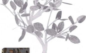 Vánoční světelný strom stříbrné listy, 32LED, 45 cm, teplá bíláEXCELLENT KO-AXF201360