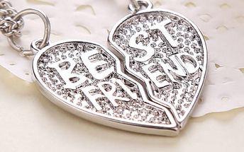 Náhrdelník v podobě srdce pro nejlepší kamarádky - dodání do 2 dnů