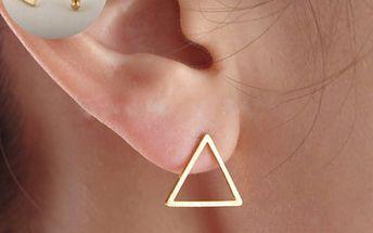 Geometrické dámské náušnice - trojúhelníky