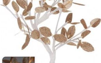 Vánoční světelný strom zlaté listy, 32LED, 45 cm, teplá bíláEXCELLENT KO-AXF201320