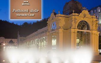 Lázeňský wellness pobyt pro dva v hotelu Poštovní dvůr***, s polopenzí, lahví vína, kávou i zákuskem
