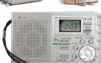 Bezdrátové miniradio s LCD displejem