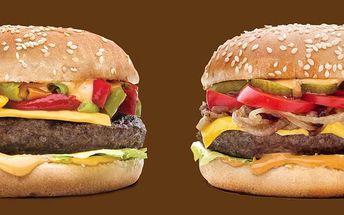 Obří burger: 200g burger (několik druhů) + 400g hranolky + cola v restauraci Citadela v Ostravě