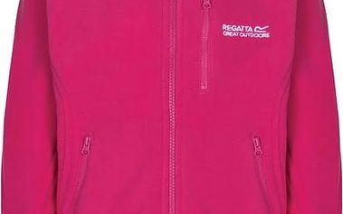 Dětská fleece mikina Regatta RKA167 MARLIN IV jem Pink