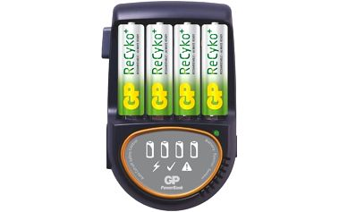 GP nabíječka baterií PB50 + 4AA ReCyko; 1604150100