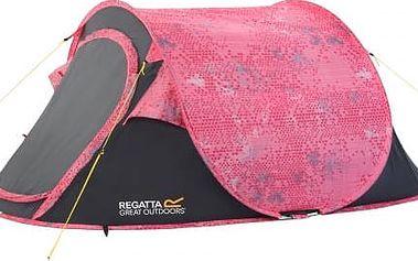 Campingový stan pro 2 osoby Regatta RCE012 MALAWI 2 Pink/SealGry