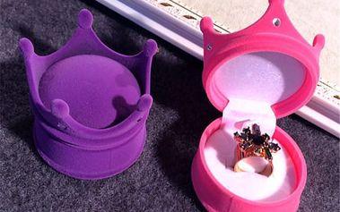 Krabička na prsten ve tvaru koruny