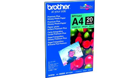 Brother Foto papír BP71GA4, A4, 20 ks, 260g/m2, lesklý