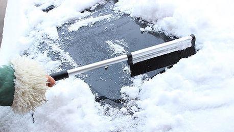 Teleskopický kartáč na sníh se škrabkou